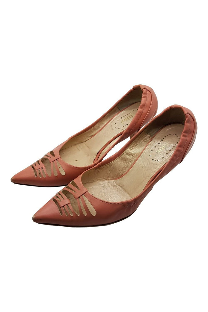 CHLOE Ballet Pink Mid Heel Shoes (36)-Chloé-The Freperie