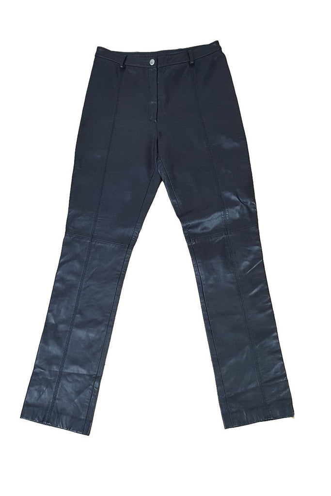 DOLCE & GABBANA Leather Jean Cut Trousers-Dolce & Gabbana-The Freperie
