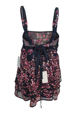 Load image into Gallery viewer, FOR LOVE & LEMONS Black Mesh Beaded Babydoll Dress (L)-For Love and Lemons-The Freperie