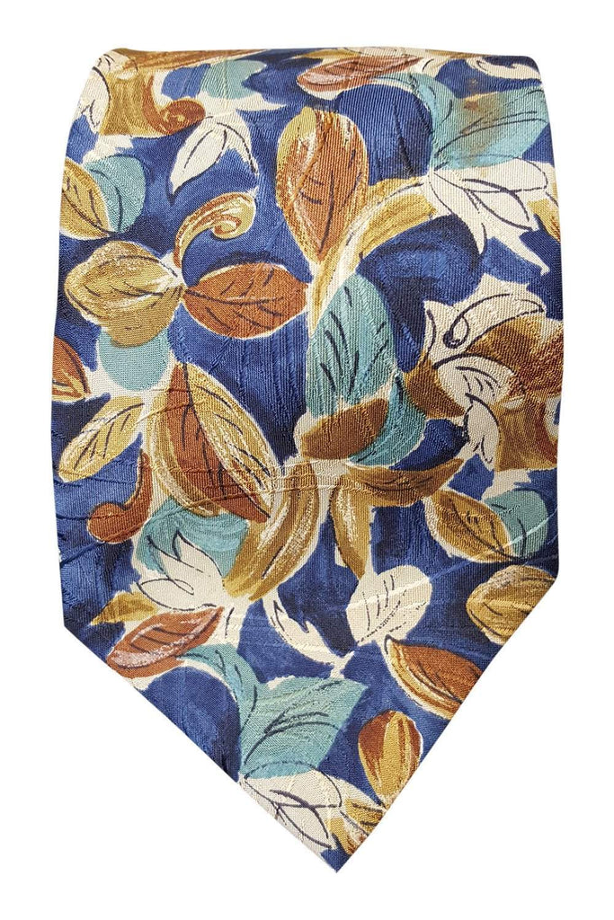 FUMAGALLI'S Men's 100% Silk Multi Coloured Floral Tie (58 L)-Fumagalli's-The Freperie