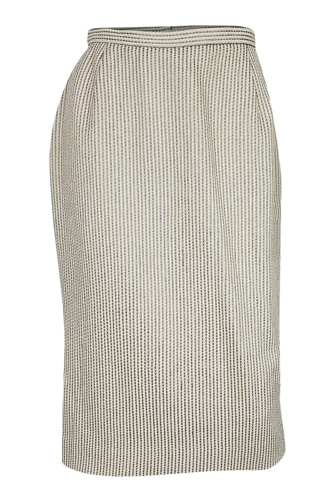 JAEGER Vintage Wool & Cotton Mix Pencil Skirt (UK 10)-Jaeger-The Freperie
