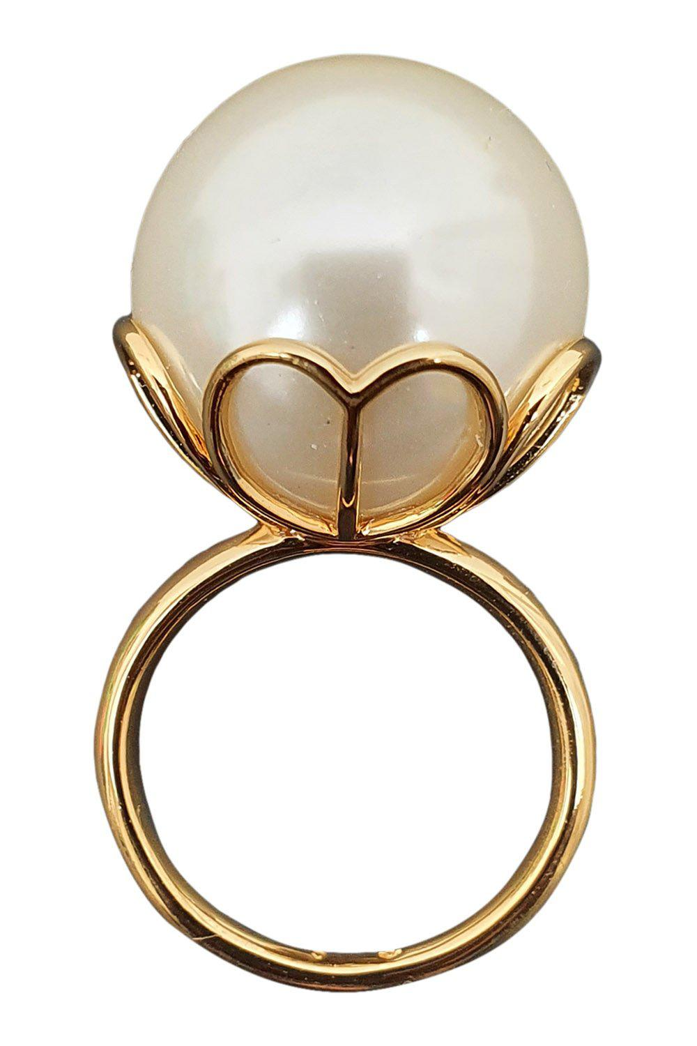 KATE SPADE Ivory Extra Large Pearlette Ring (7)-The Freperie