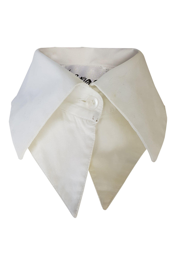 LE GARAGE Paris White Cotton Collar (S)-Le Garage-The Freperie