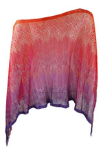 Load image into Gallery viewer, MISSONI Knitted Multi-Coloured Ombre Shawl (One Size)-Missoni-The Freperie