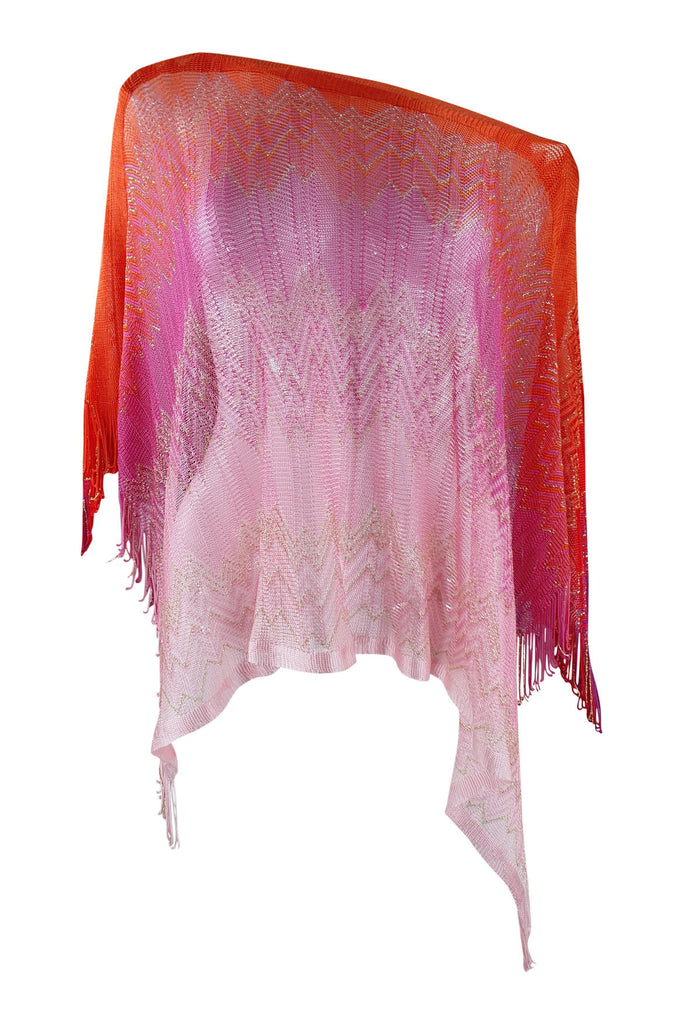 MISSONI Knitted Multi-Coloured Ombre Shawl (One Size)-Missoni-The Freperie