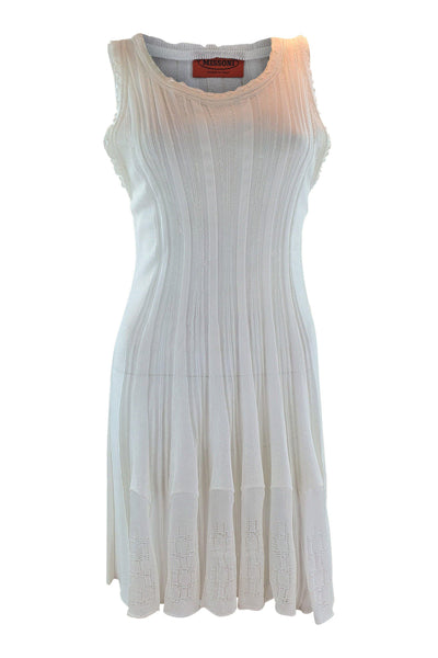 MISSONI Orange Label White Sheer Sleeveless Dress (40)-Missoni-The Freperie