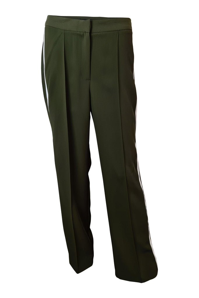 RIVER ISLAND Military Green Tuxedo Trousers (10 R)-River Island-The Freperie