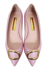 Load image into Gallery viewer, RUPERT SANDERSON Bedfa Calf Leather Hortensia Pink Pointed Toe Flats (40)-The Freperie
