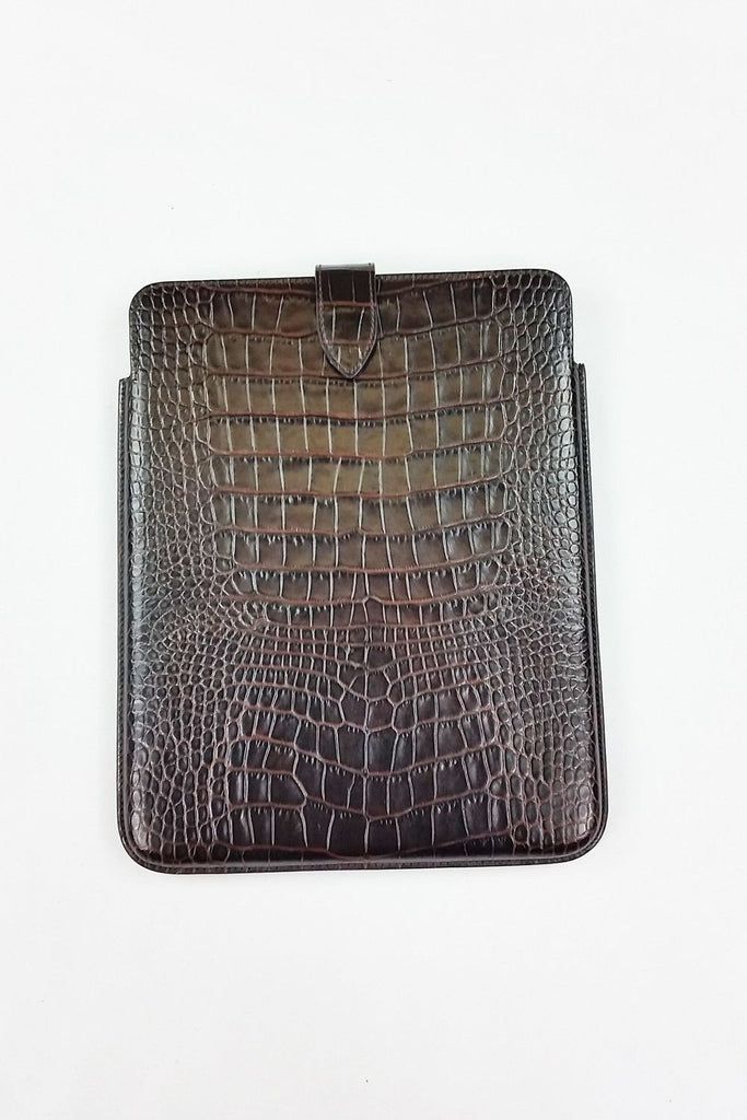 SMYTHSON OF BOND STREET MARA COLLECTION BROWN LEATHER TABLET CASE-Smythson of Bond Street-The Freperie