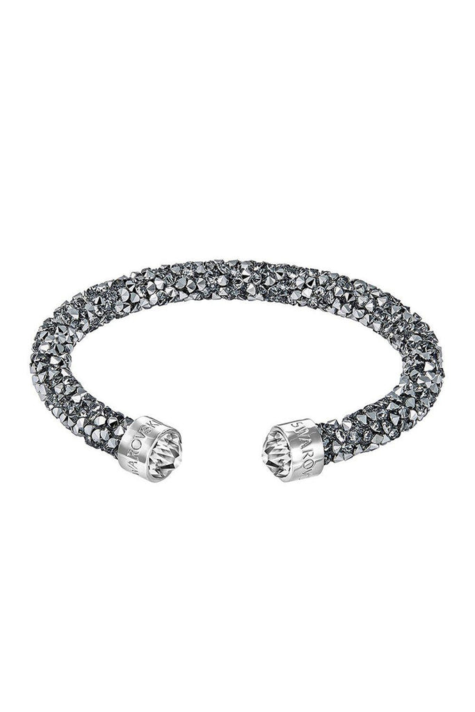 SWAROVSKI Crystal Dust Single Bangle Stainless Steel Plated Cuff (S)-Swarovski-The Freperie