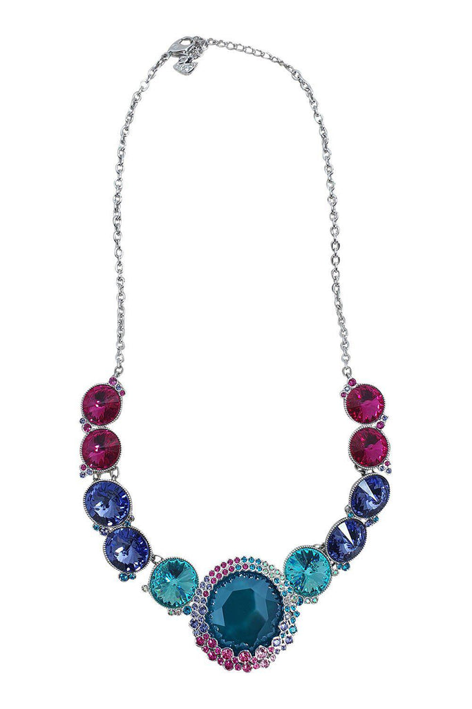 SWAROVSKI Crystal Ego Rhodium-Plated Multi-coloured circles Necklace (5182020)-The Freperie