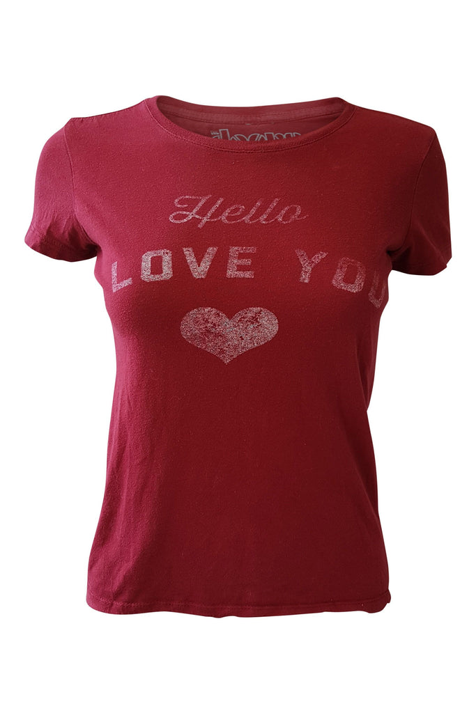 "THE DOORS ""Hello I Love You"" Red Tee Shirt (S)-The Doors-The Freperie"