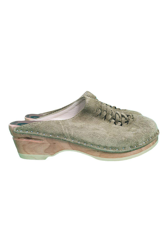 TROENTORPS Toffelfabrik Freen Velvet Clogs (EU 37 | US 7 | UK 4)-Troentorps-The Freperie
