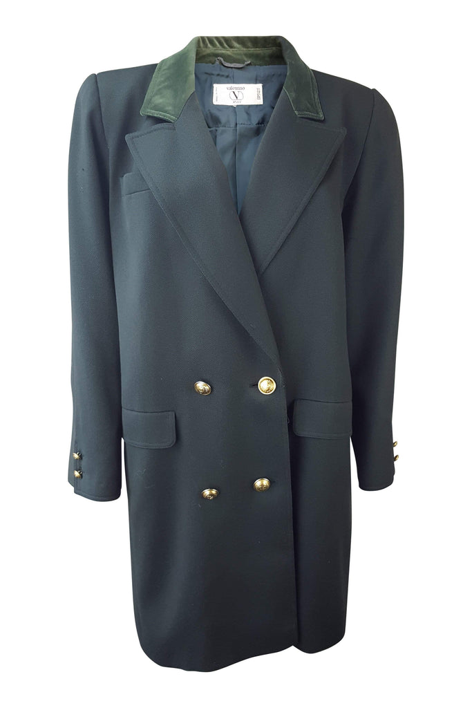 VALENTINO Vintage Green Wool Jacket (M)-Valentino-The Freperie
