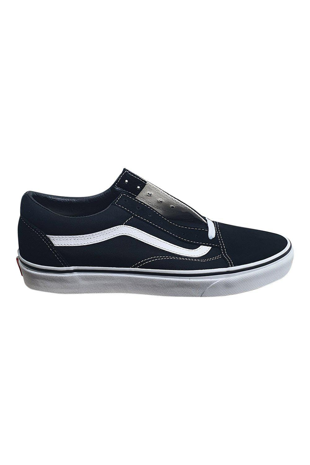 VANS Original Black & White Low Cut Old Skool Trainers (UK 9)-The Freperie