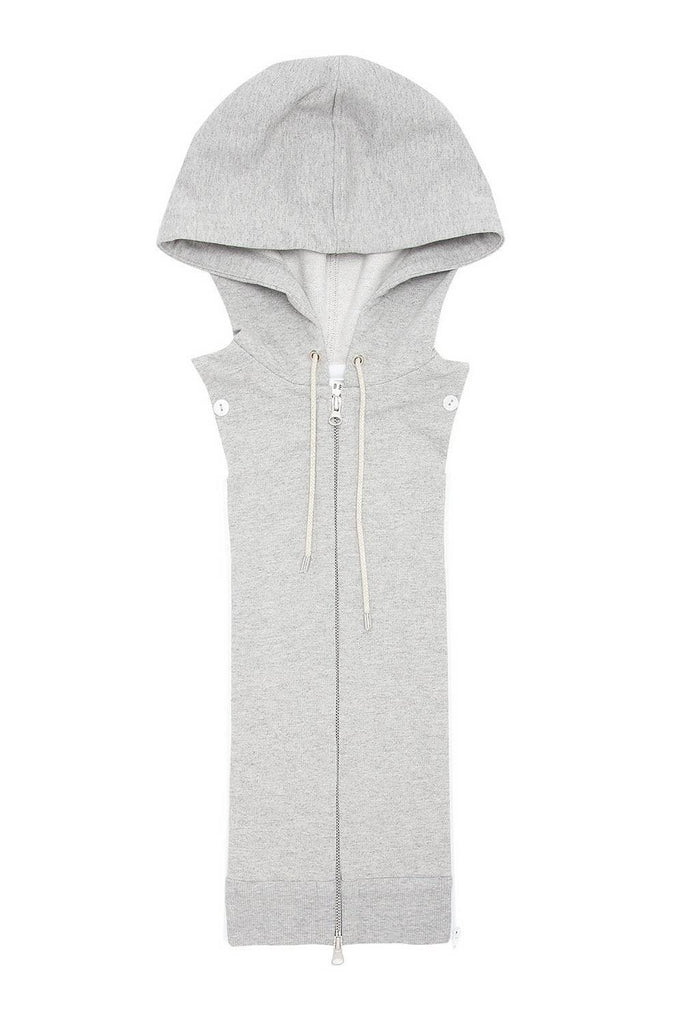 VERONICA BEARD Grey Hooded Cotton Blend Dickey (00-14)-Veronica Beard-The Freperie