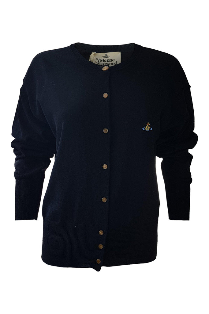VIVIENNE WESTWOOD Classic 100% Wool Long Sleeved button Front Cardigan-Vivienne Westwood-The Freperie