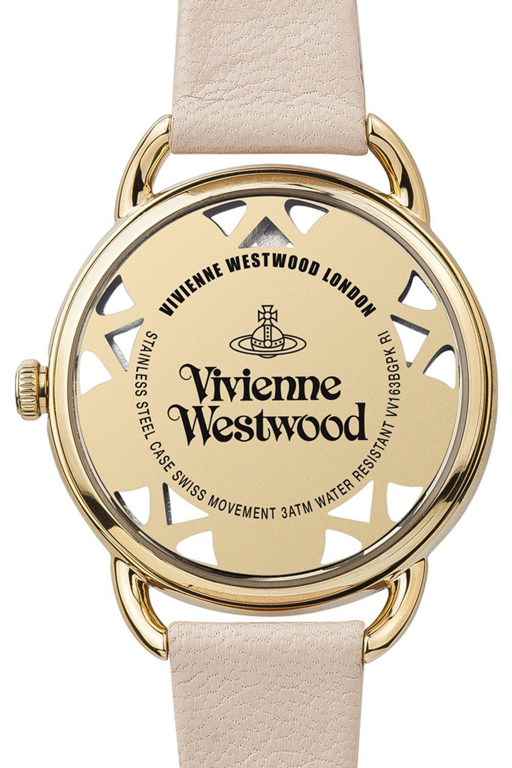 VIVIENNE WESTWOOD Pink Leather Women's Leadenhall Wristwatch VV163BGPK-Vivienne Westwood-The Freperie