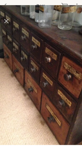 Antique apothecary chest of drawers