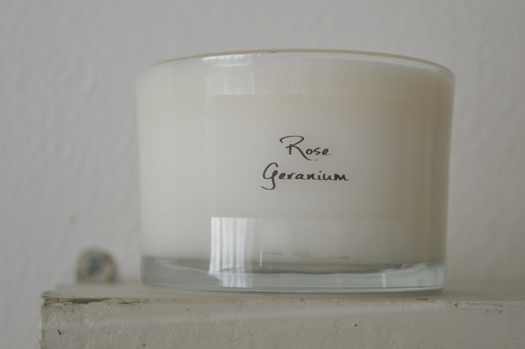 Organic Soy Wax Glass Vase Scented Candles