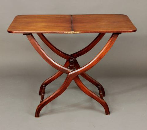 Antique mahogany coaching table