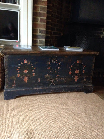 Painted Coffer/Trunk/Marriage Chest