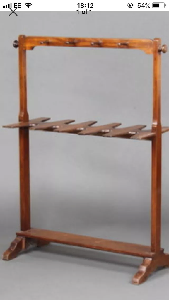 Antique boot and whip stand