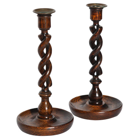 Barley twist candlesticks various