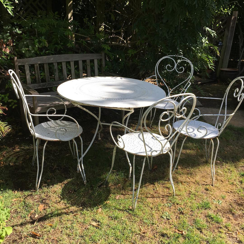 French Wrought Iron Table & Chairs