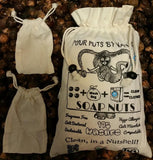 175 Washes Size Med. 1.1 lbs Soap Nuts + 2 Washing Bags + ONE FREE BRACELET PER UNIT ORDERED - Four   Nuts     By Nature     Soap Nuts  - 1