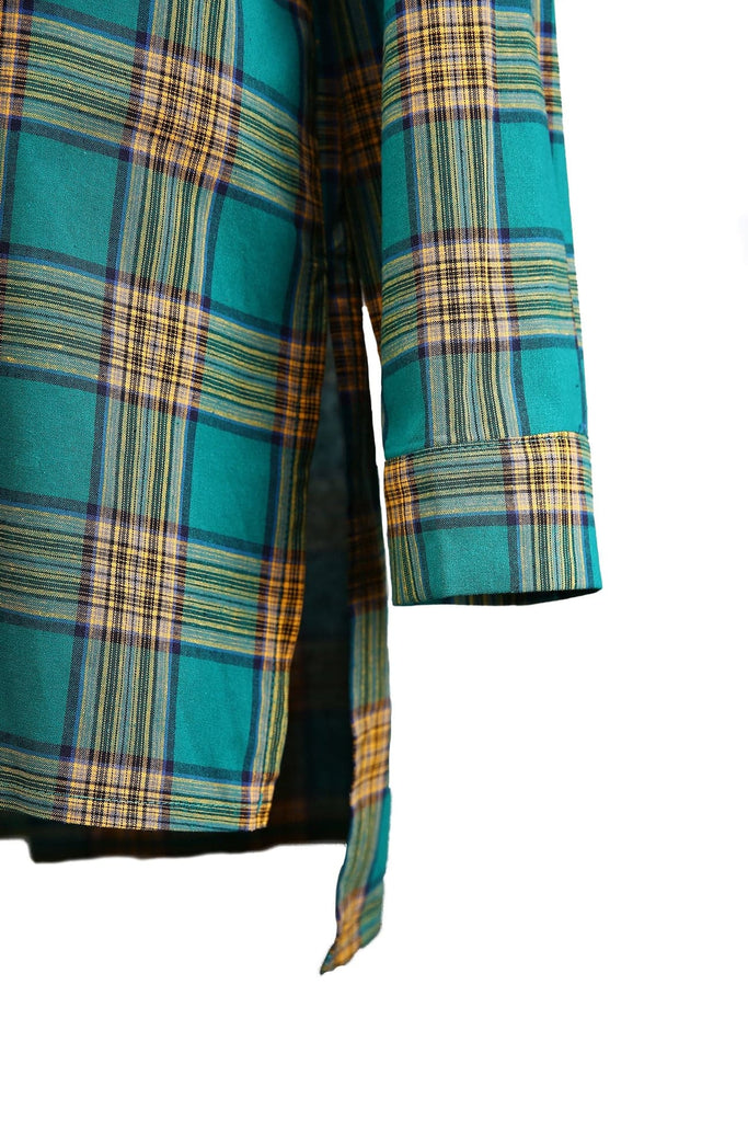 Green Back Check Flannel
