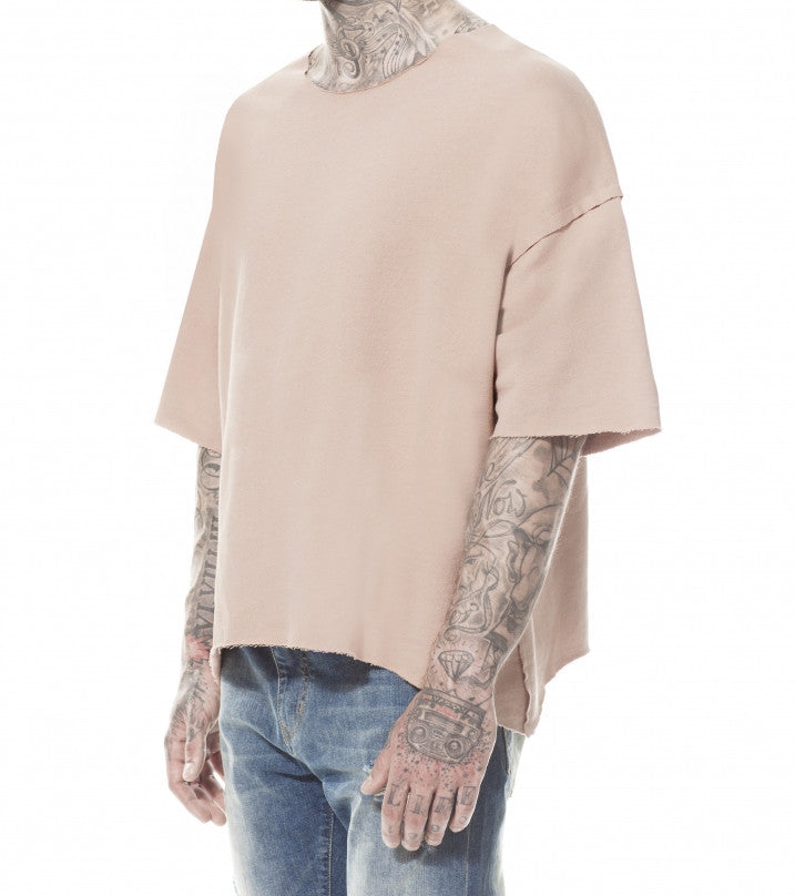 CAMEL INSIDE OUT JERSEY T-SHIRT