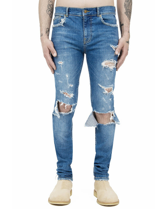 BLUE BLOW OUT JEANS