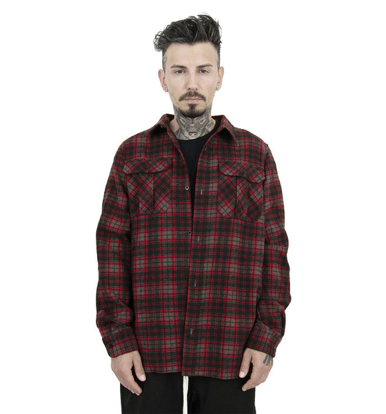 HEAVY BLACK FLANNEL SHIRT