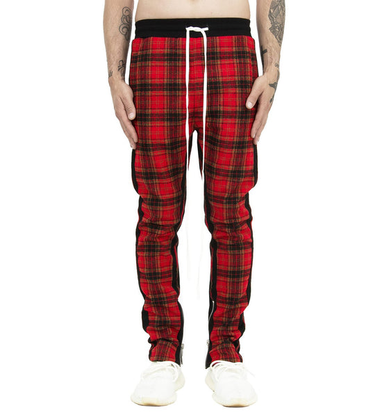 HEAVY RED FLANNEL JOGGER