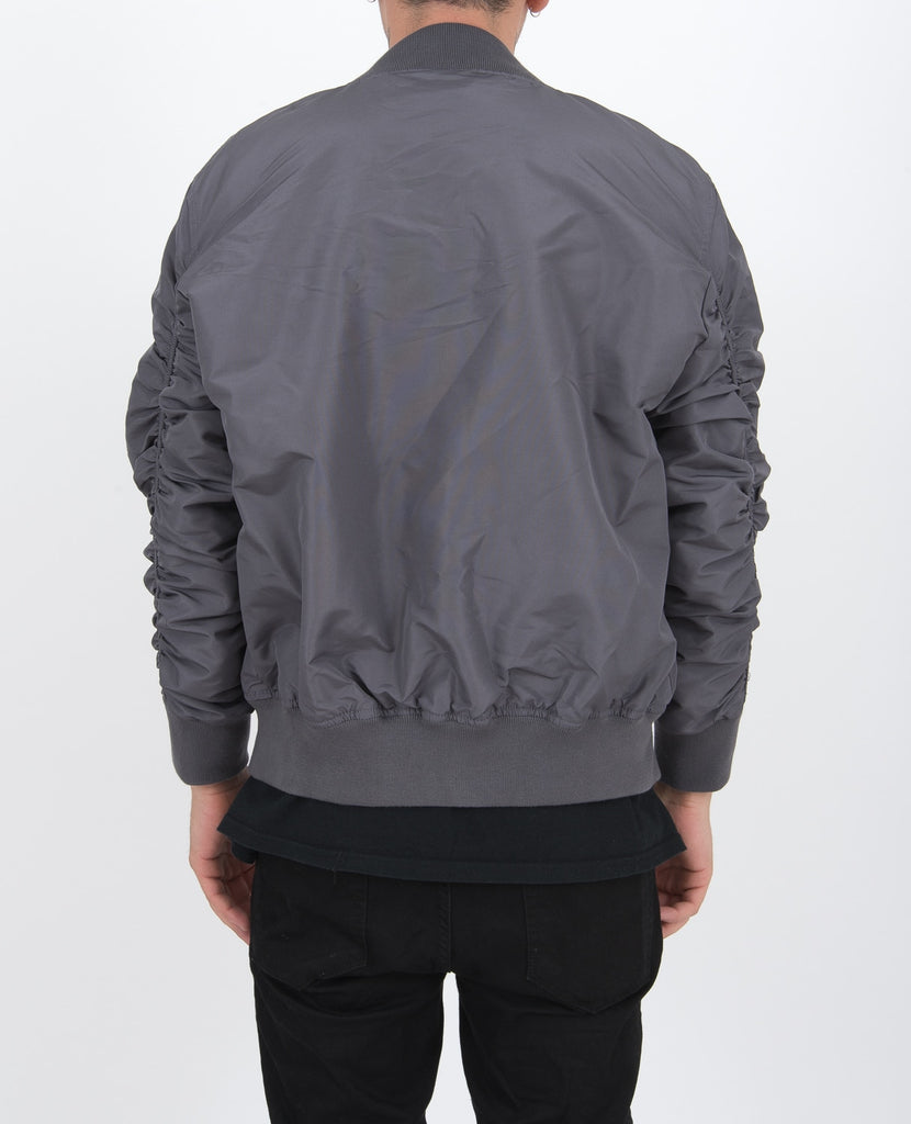Grey Steal Bomber