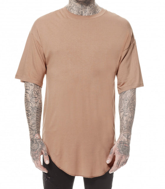 CAMEL ROUND T-SHIRT
