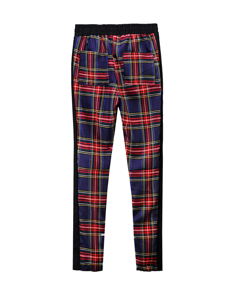 Tartan Zipper Pants Navy