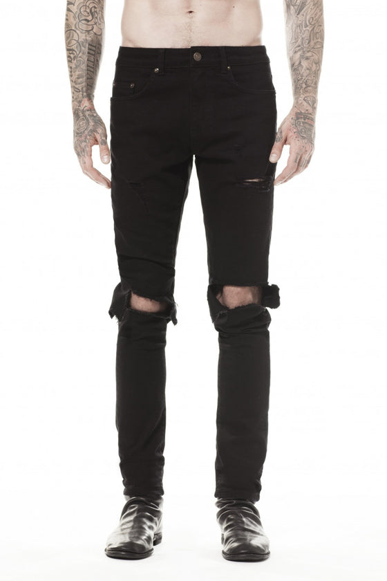 BLACK BLOW OUT JEANS