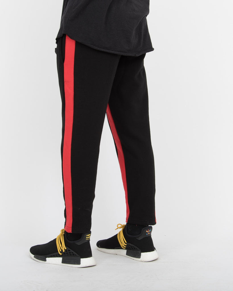Line Cropped Training Pants RED