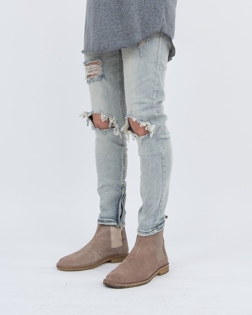 Vintage Ripped Jeans Light Blue