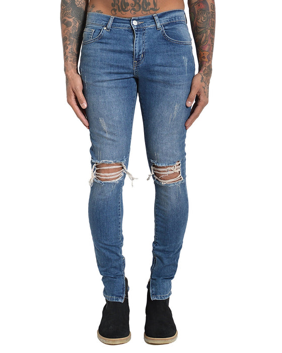 MARCIANO DENIM SAND WASHED BLUE