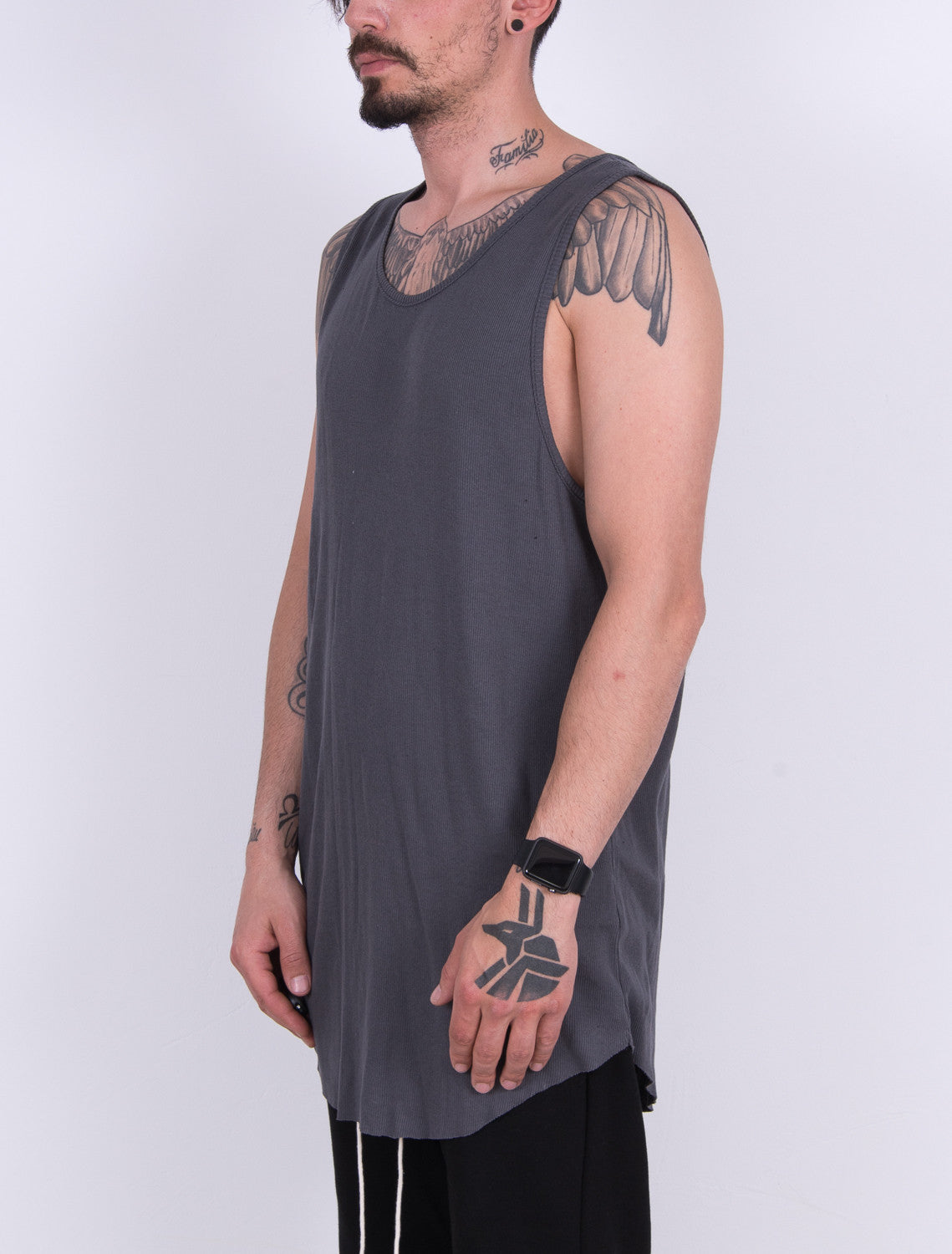 Loose Fit Tank Top CHARCOAL