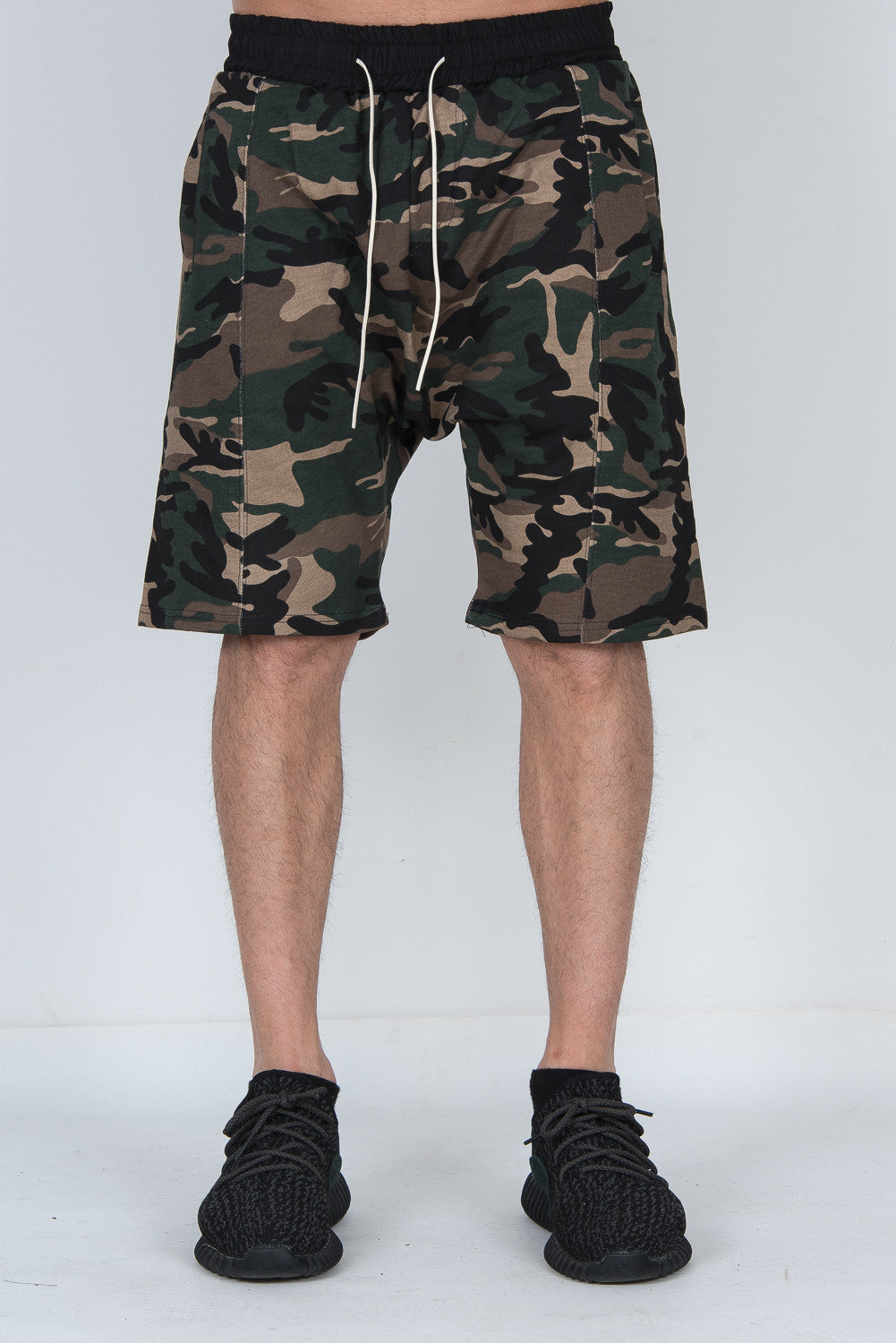 String Camouflage Dropp Shorts