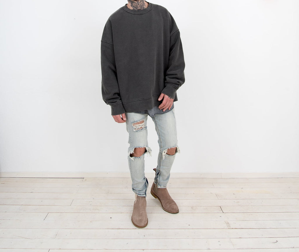 Heavy Cotton Sweater CHARCOAL