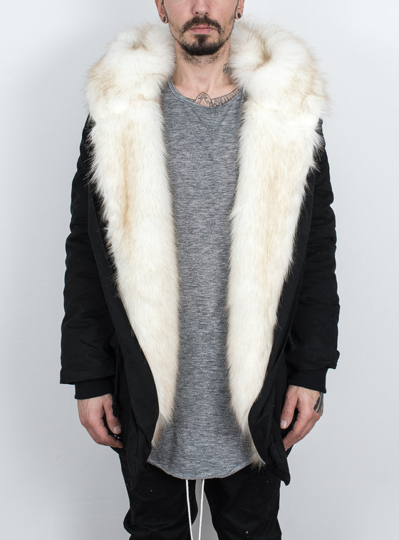 Big Fur Jacket Black/White