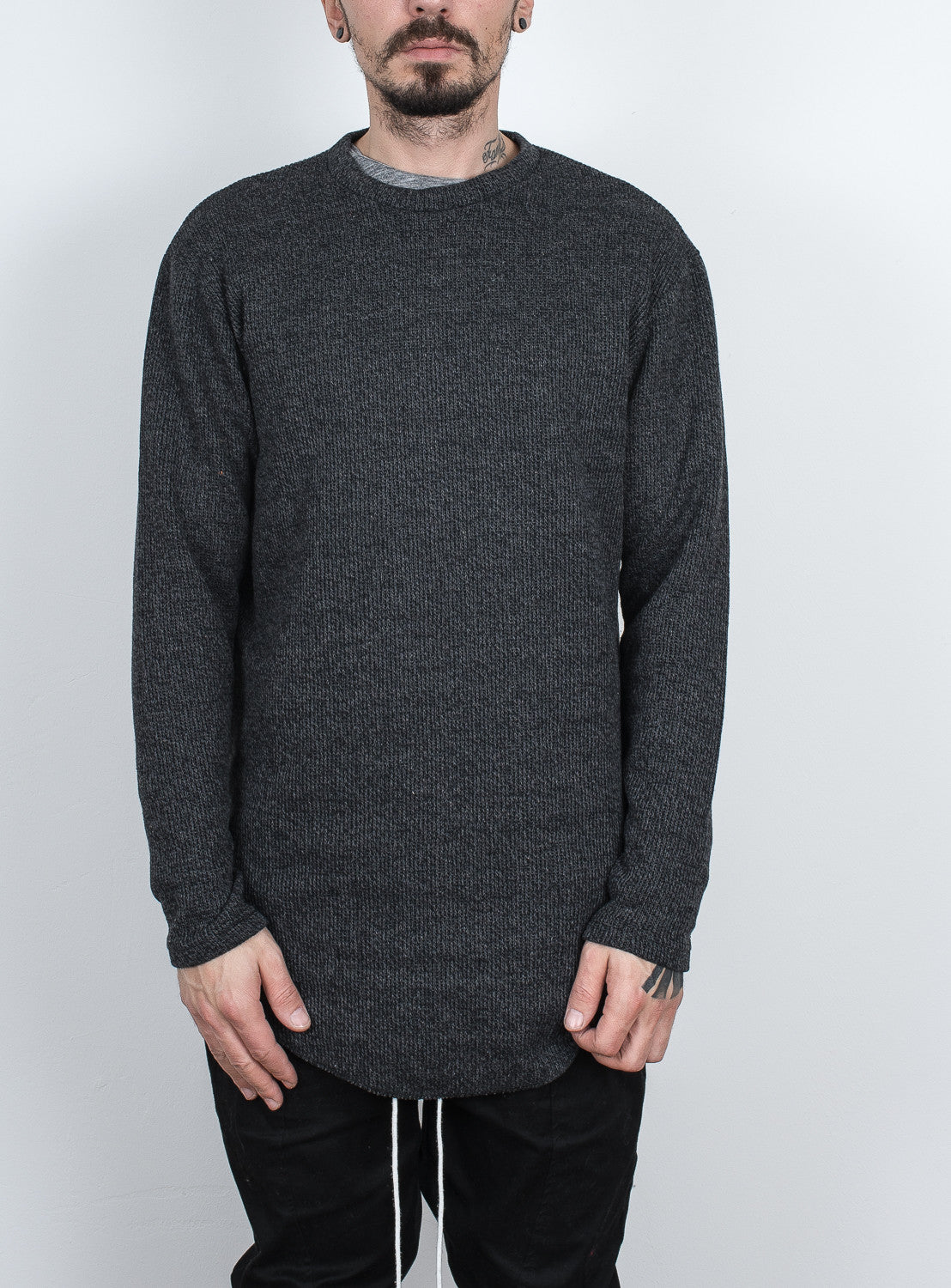 Long Sweater Dark Grey