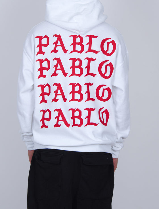 Pablo Hoodie Red/White