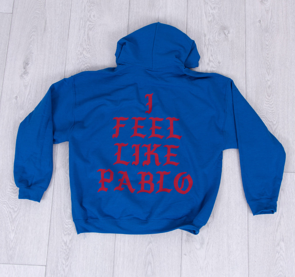 i feel like Pablo Hoodie Red/Blue