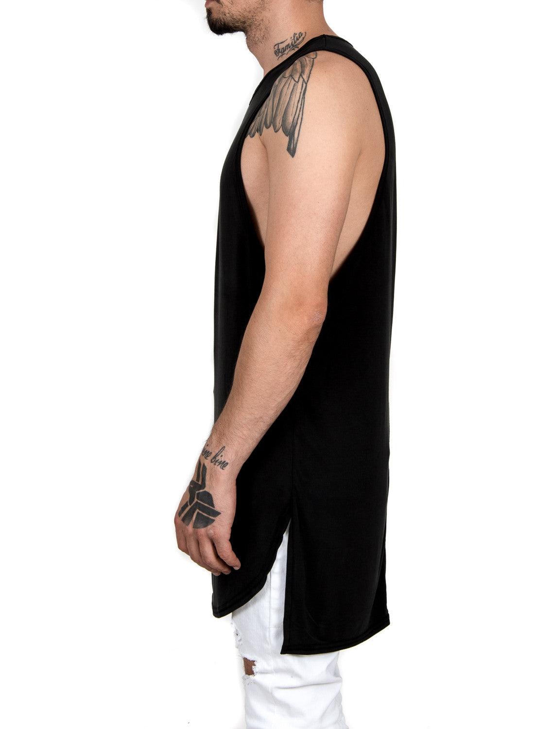 Black Loose-fit Layered Tank Ttop